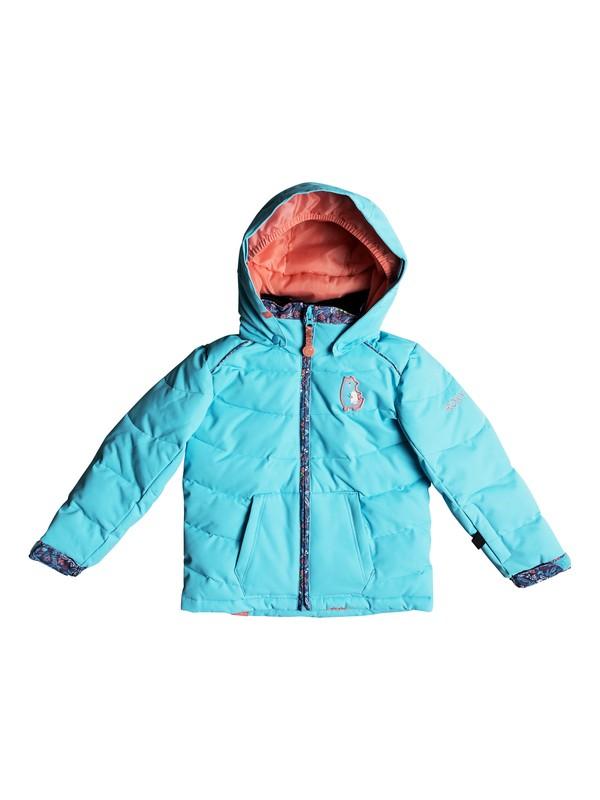 0 Girl's 2-6 Anna Snow Jacket Blue ERLTJ03008 Roxy