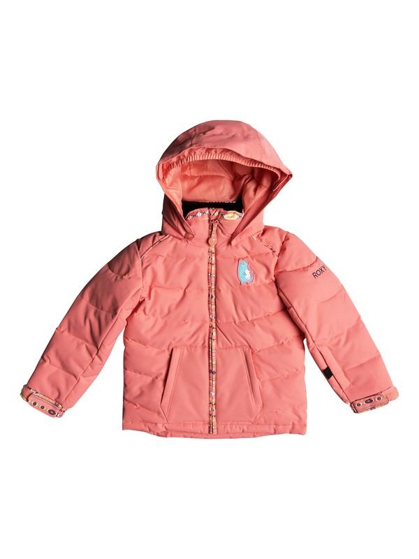 0 Girl's 2-6 Anna Snow Jacket Pink ERLTJ03008 Roxy