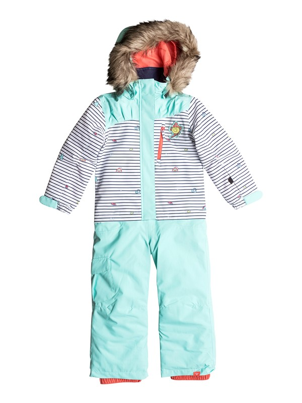 0 Paradise Little Miss - Snow Suit for Girls 2-7 White ERLTS03003 Roxy