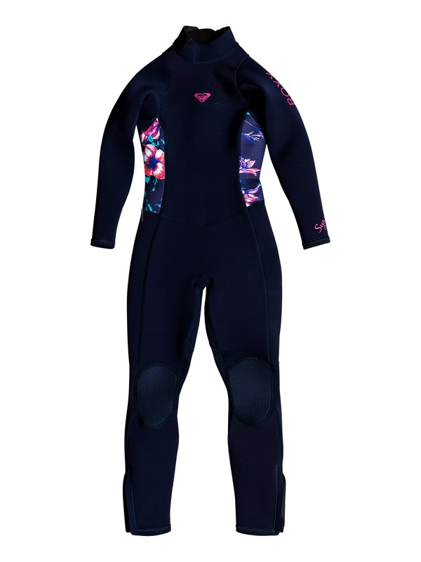 0 Girl's 2-6 3/2mm Syncro Series Back Zip FLT Wetsuit Blue ERLW103000 Roxy