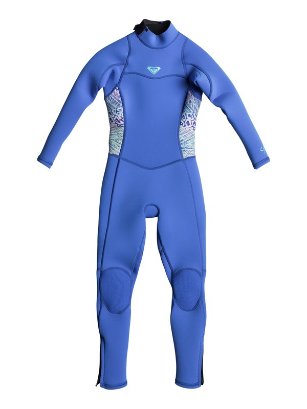 0 Girls 2-6 3/2mm Syncro Series  Back Zip Wetsuit Blue ERLW103000 Roxy