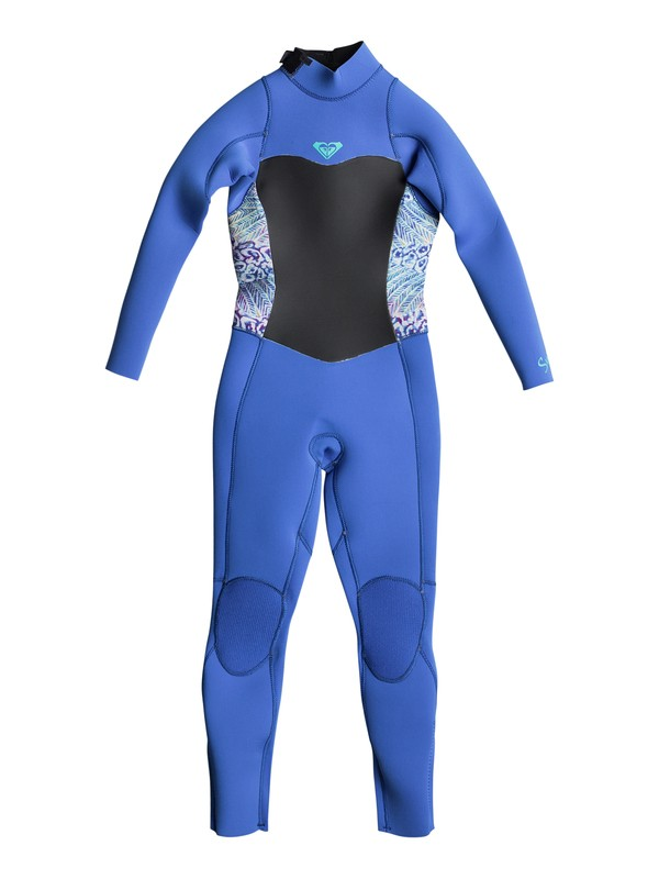 0 Girl's 7-14 3/2mm Syncro Series Back Zip GBS Wetsuit Blue ERLW103001 Roxy