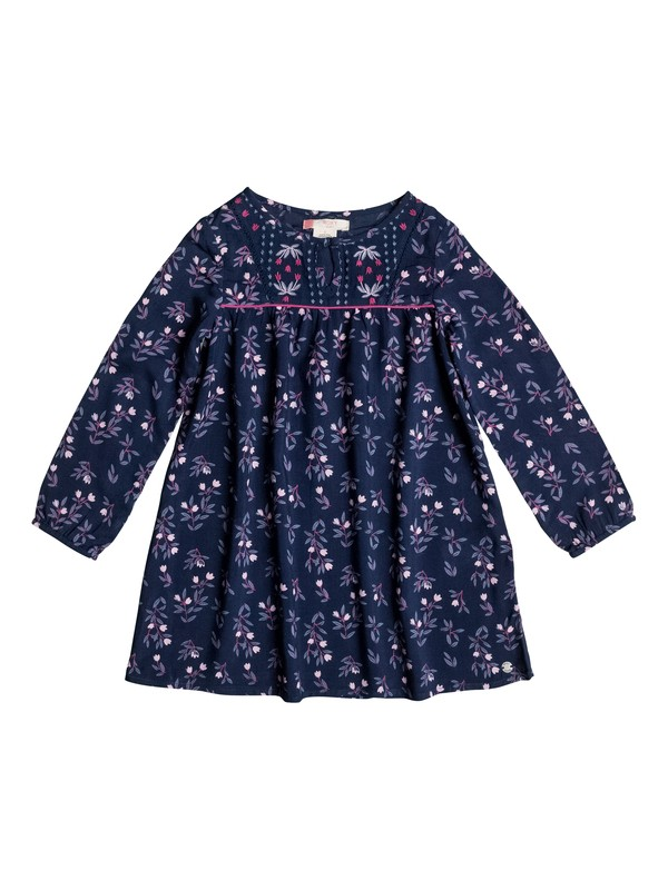 0 Girls 2-6 Waiting For You Long Sleeve Dress  ERLWD03026 Roxy