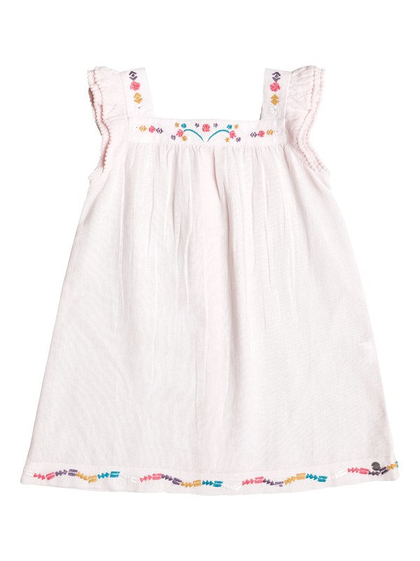 0 Girl's 2-6 Tropics Culture Cap-Sleeve Dress Pink ERLWD03030 Roxy
