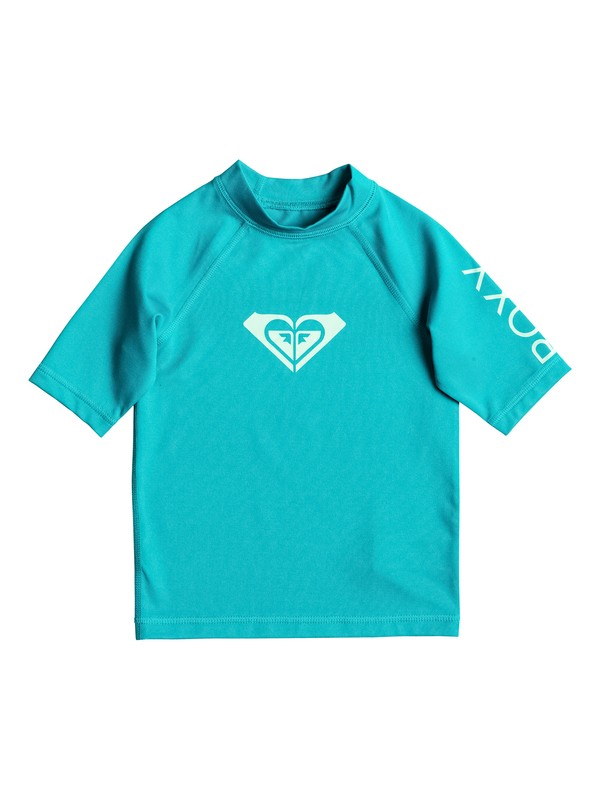 0 Girls 2-6 Whole Hearted Short Sleeve Rashguard  ERLWR03005 Roxy