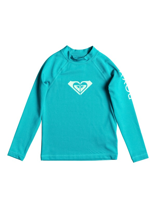 0 Girls 2-6 Whole Hearted Long Sleeve Rashguard  ERLWR03006 Roxy