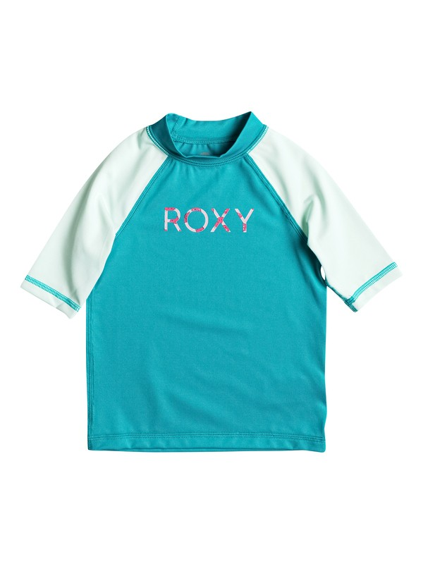 0 Girls 2-6 Sail Away Short Sleeve Rashguard  ERLWR03007 Roxy