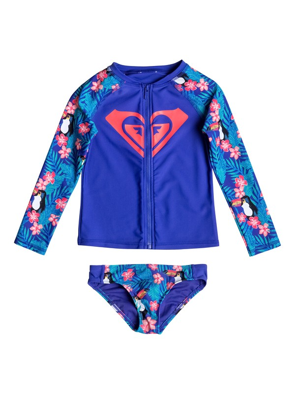 0 Girls 2-6 Little Tropics Long Sleeve Rashguard Set  ERLWR03035 Roxy