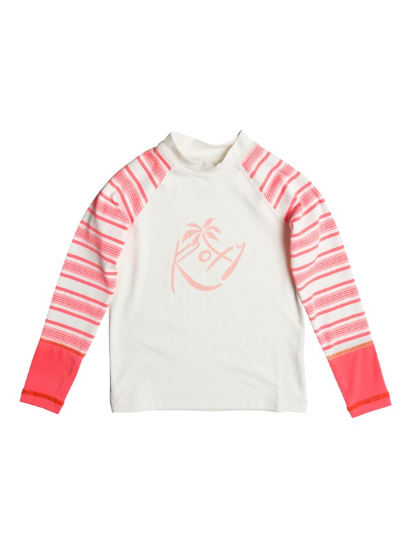 0 Girl's 2-6 Sweet Tooth Long Sleeve Rashguard  ERLWR03039 Roxy