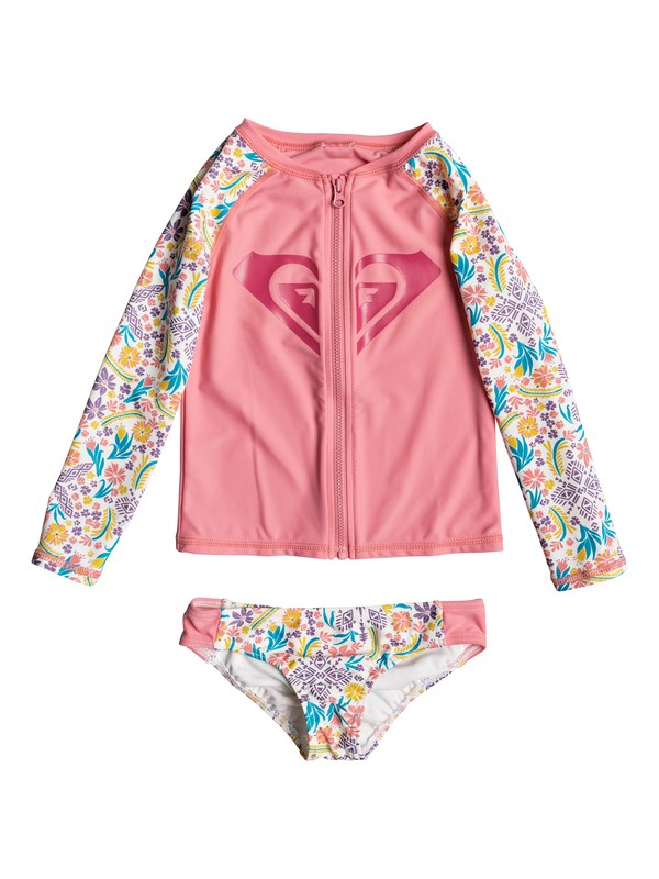 0 Girls 2-6 Caravane Beauty Long Sleeve Rashguard Set  ERLWR03051 Roxy