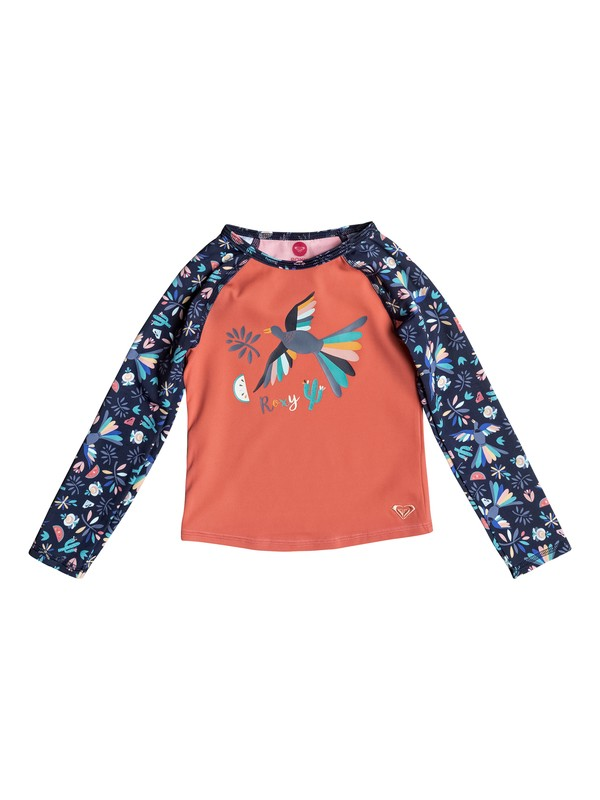 0 Girl's 2-6 Roxy Birdy Long Sleeve Rashguard Blue ERLWR03064 Roxy