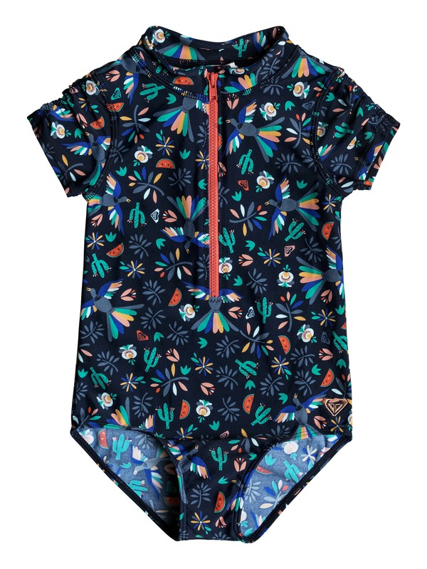 0 Girl's 2-6 Roxy Birdy Corolle Short Sleeve One-Piece Rash Guard  ERLWR03065 Roxy