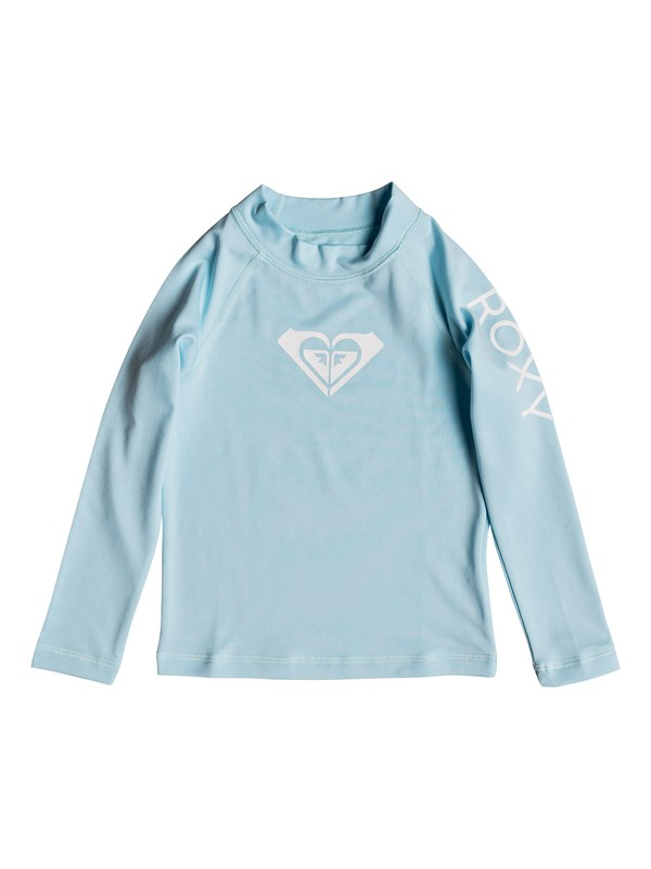 0 Girls 2-6 Whole Hearted Long Sleeve UPF 50 Rash Guard Blue ERLWR03075 Roxy