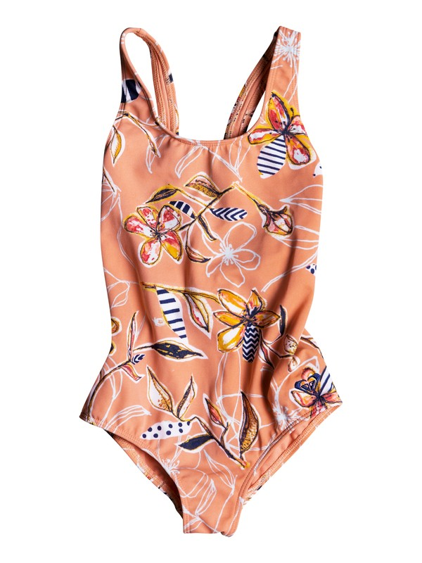 0 Girls 2-6 Let's Be ROXY One-Piece Swimsuit Pink ERLX103028 Roxy