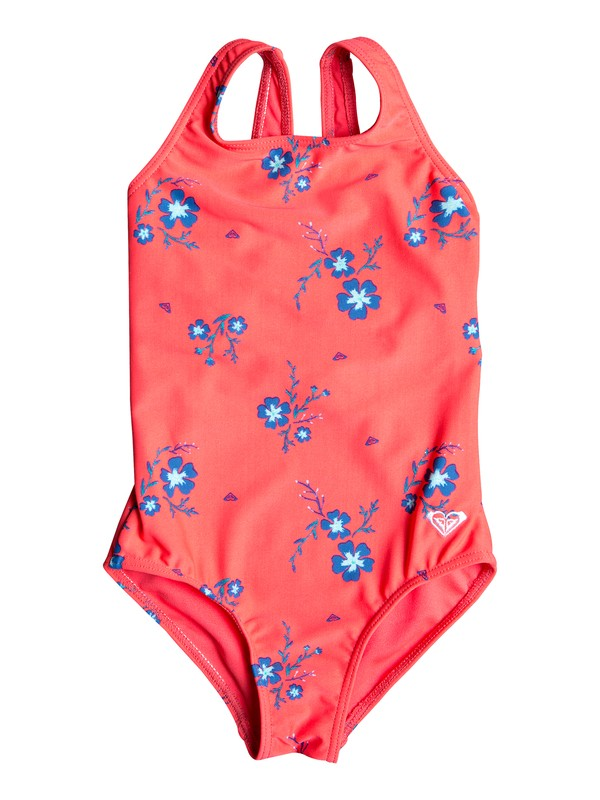 0 Girl's 2-6 Chill After One-Piece Swimsuit Red ERLX103029 Roxy