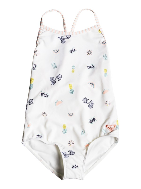 0 Girls 2-6 Come On Board One-Piece Swimsuit White ERLX103030 Roxy