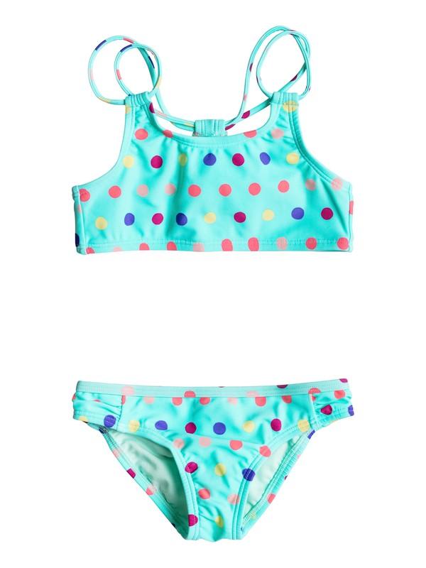 0 Girls 2-6 Rainbow Dots Athletic Bikini Set  ERLX203018 Roxy
