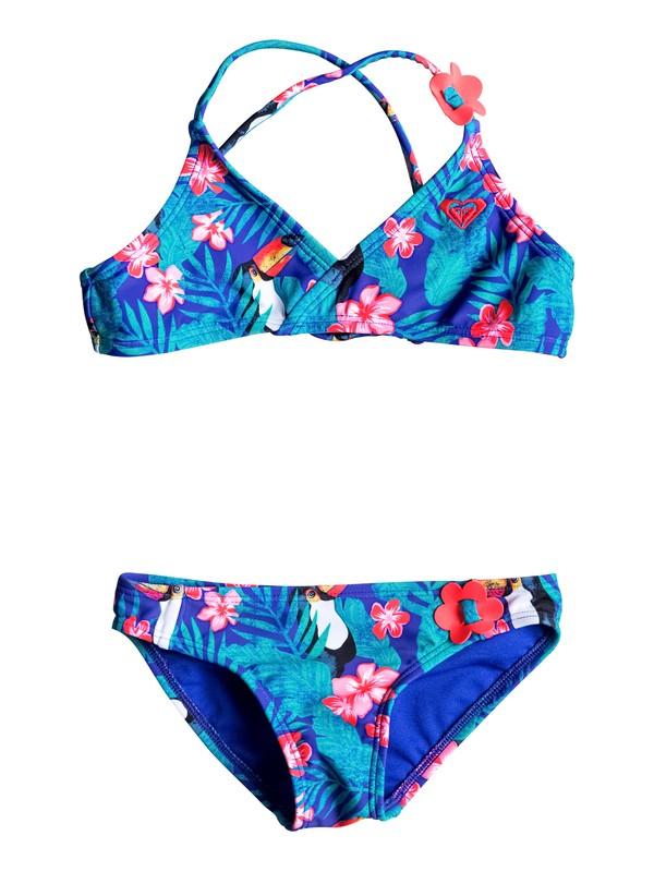 0 Girls 2-6 Little Tropics Athletic Bikini Set  ERLX203019 Roxy