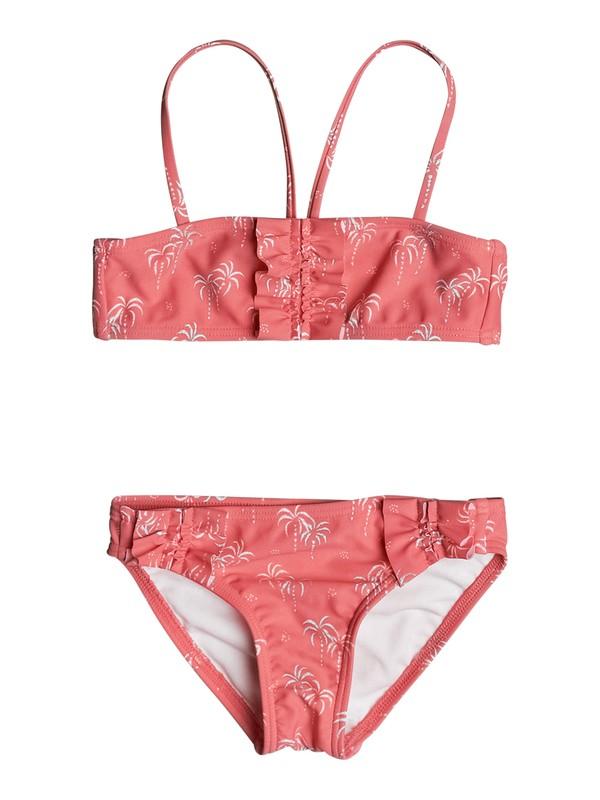 0 Girls 2-6 Palmy Tiny Bandeau Bikini Set  ERLX203020 Roxy