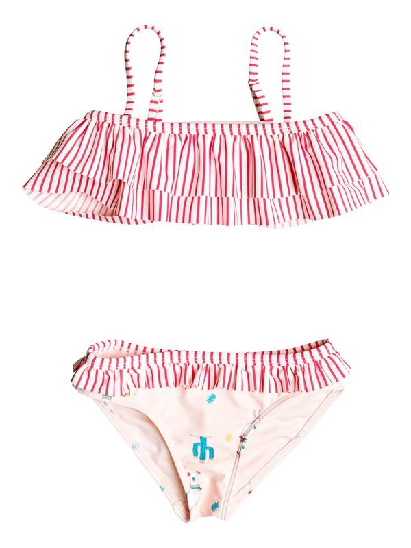 0 Girl's 2-6 Cute Travel Flutter Bikini Set Pink ERLX203030 Roxy