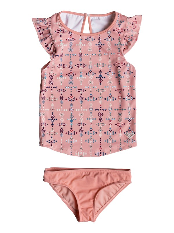 0 Girls 2-6 Boho Tankini Set Pink ERLX203050 Roxy