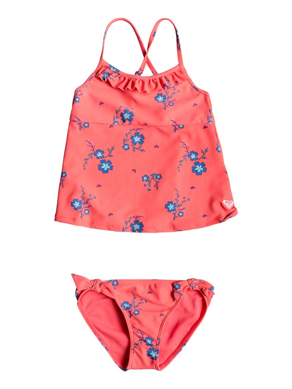 0 Girl's 2-6 Chill After Tankini Set Red ERLX203059 Roxy