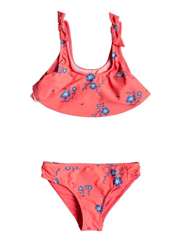 0 Girls 2-6 Chill After Flutter Bikini Set Red ERLX203061 Roxy