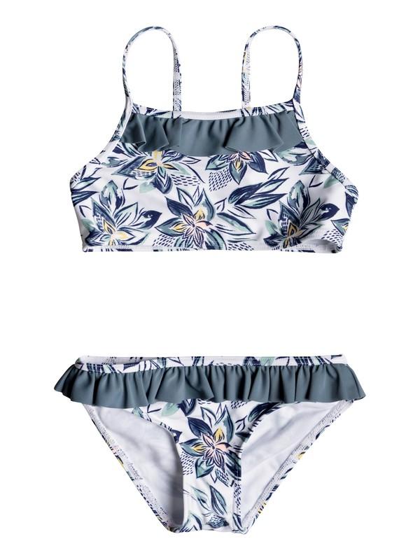 0 Girl's 2-6 Magic Seeker Athletic Bikini Set White ERLX203072 Roxy