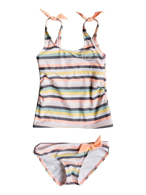 0 Girl's 2-6 Girl Lets Go Surfing Tankini Set Pink ERLX203076 Roxy