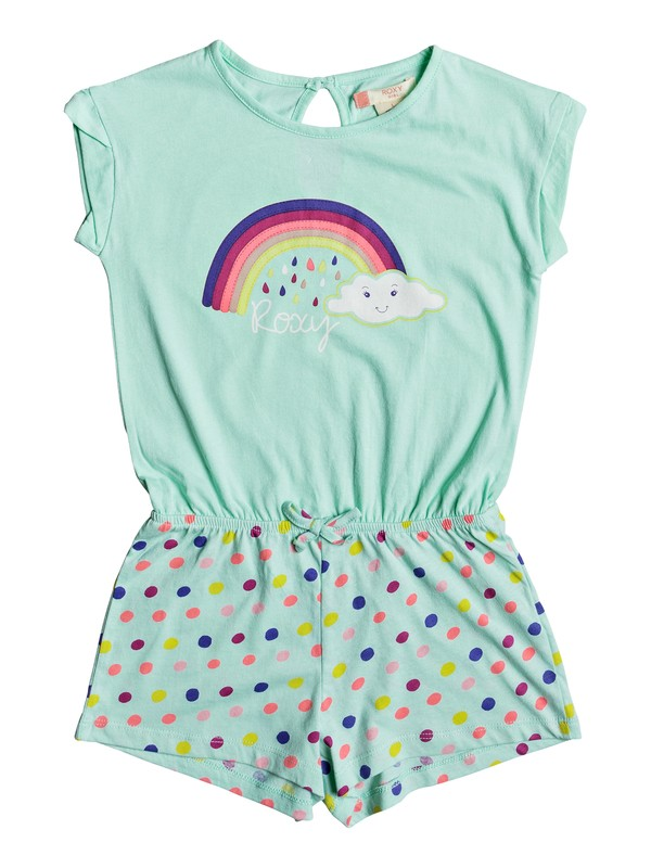 0 Girls 2-6 Rainbow Dots Beach Romper  ERLX603001 Roxy