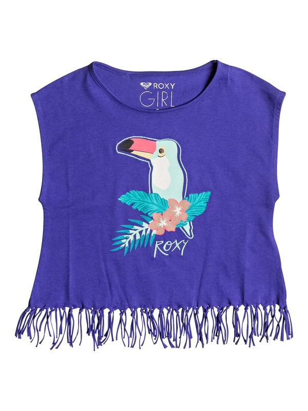 0 Girls 2-6 Whispers Under The Rain Fringe Tee  ERLZT03080 Roxy