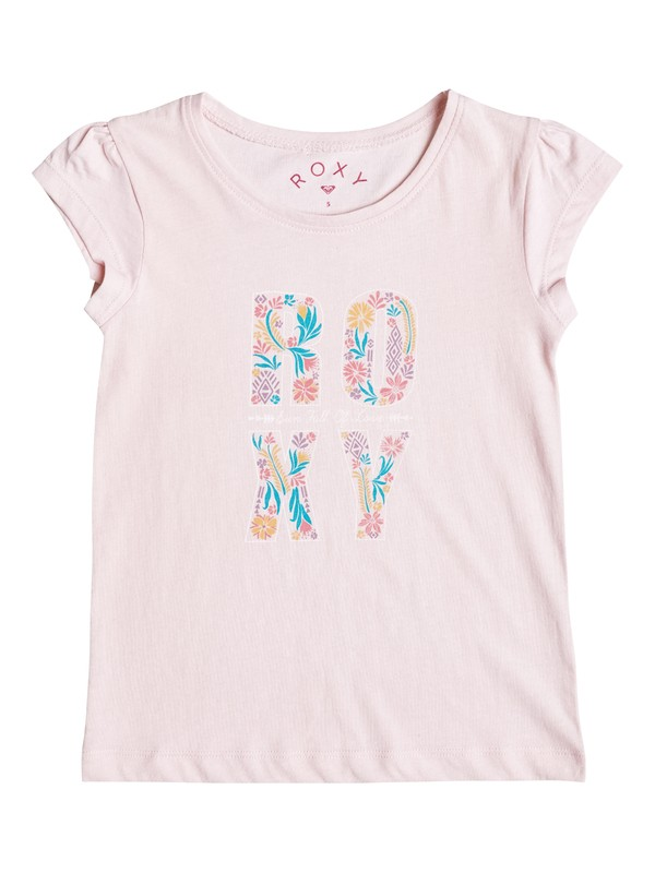 0 Girl's 2-6 Rain Or Shine Flower Power Tee  ERLZT03092 Roxy