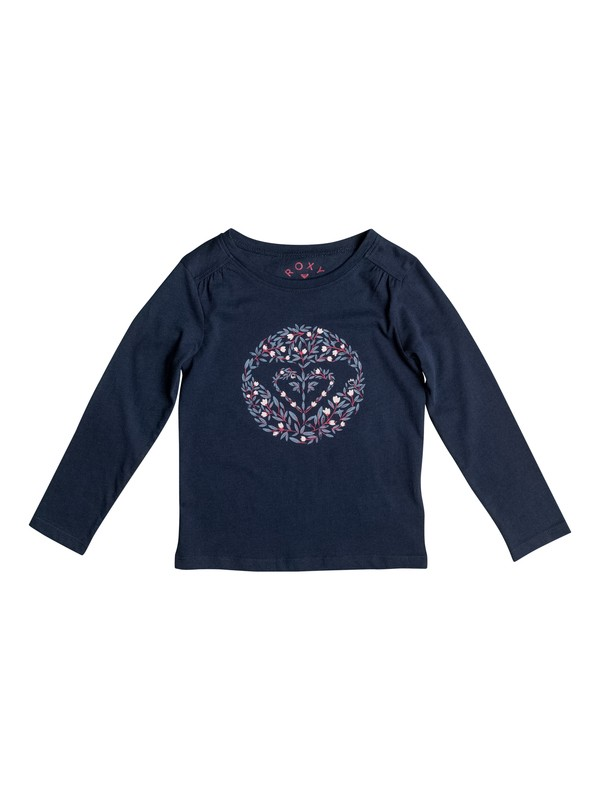 0 Girl's 2-6 Never Ages Nice One Heart Long Sleeve Tee  ERLZT03094 Roxy
