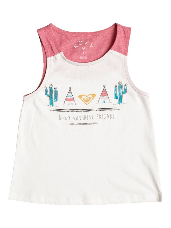 0 Girl's 2-6 Collect Moments Trip Tank Top  ERLZT03095 Roxy