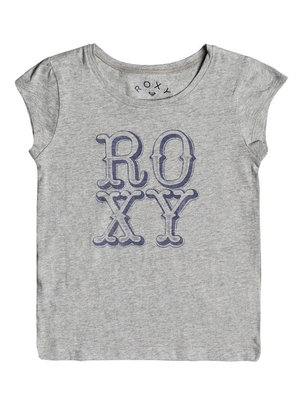 0 Girl's 2-6 My Sun My Earth Cap Sleeve Tee Grey ERLZT03106 Roxy