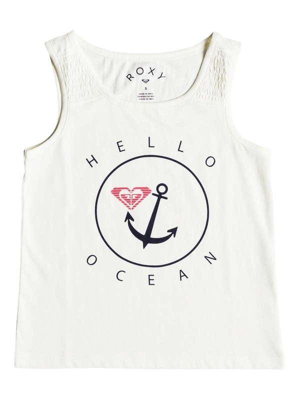 0 Girls 2-6 Wayfaring Stranger Hello Ocean  Tank Top White ERLZT03117 Roxy
