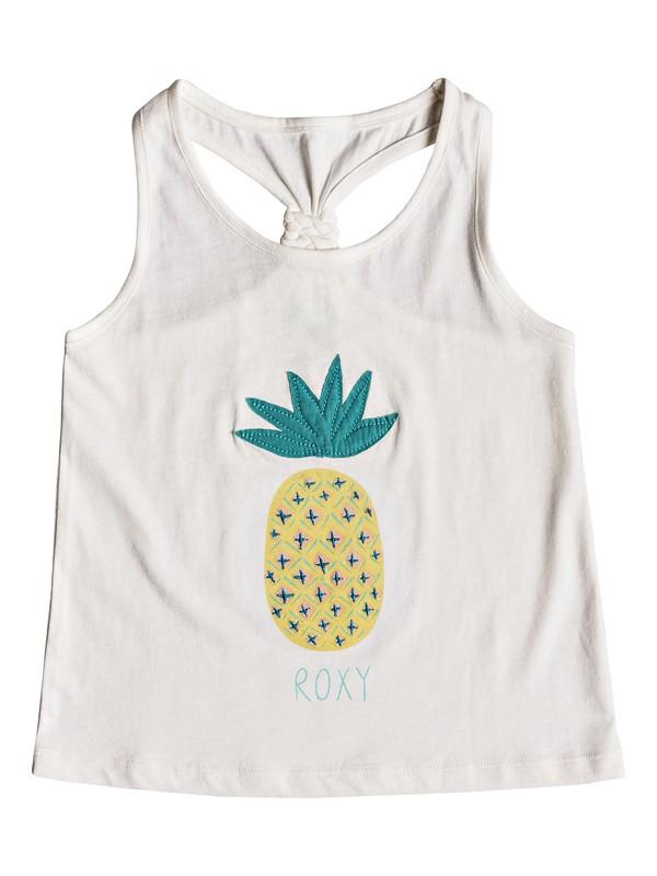 0 Girls 2-6 Wish You Well Pineapple  Tank Top White ERLZT03118 Roxy