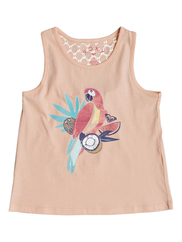 0 Girl's 7-14 Peaceful Light The Parrot Tank Top Pink ERLZT03121 Roxy