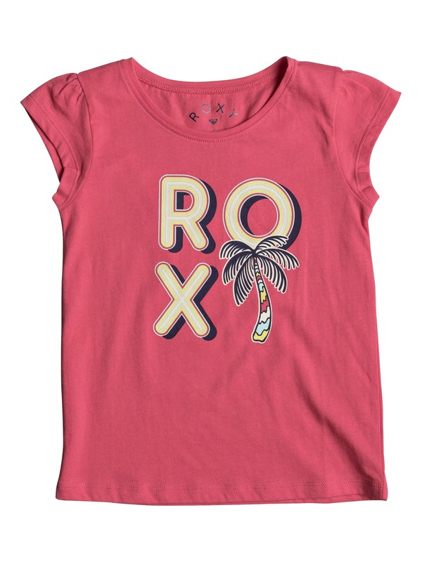0 Moidti Palm Tree - Camiseta de Manga Cap más Corta para Chicas 2-7  ERLZT03122 Roxy