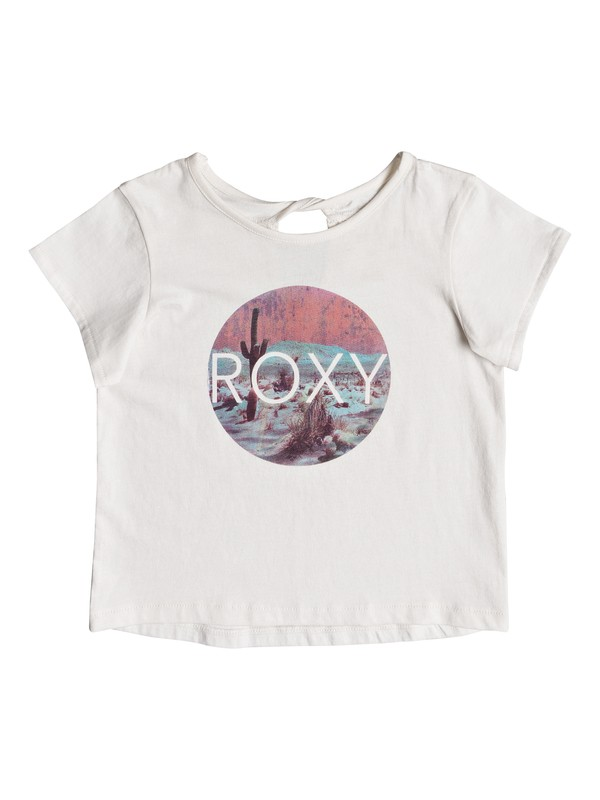 0 Girls 2-6 Blue Skies Tee White ERLZT03137 Roxy