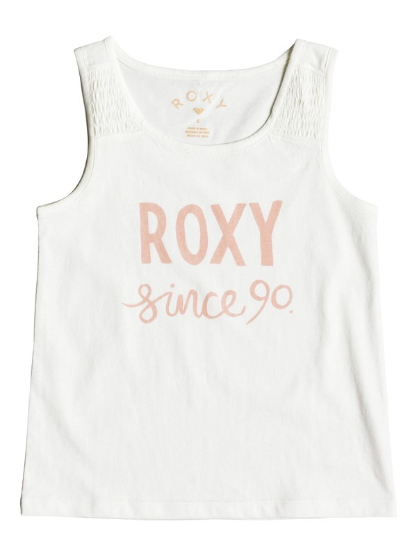 0 Girls 2-6 Wayfaring Stranger Sketch Day Tank Top White ERLZT03140 Roxy