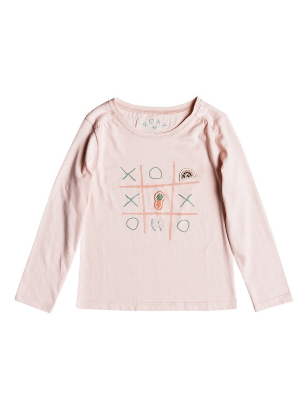 0 Girls 2-6 Never Ages Game Over Long Sleeve Tee Pink ERLZT03143 Roxy