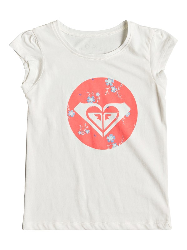 0 Girl's 2-6 Moid Flowers Cap Sleeve Tee White ERLZT03154 Roxy