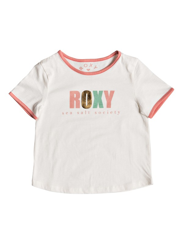 0 Girl's 2-6 Song For A Tee White ERLZT03163 Roxy