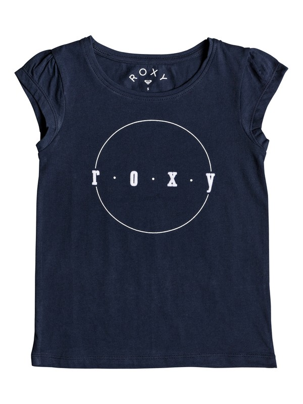 0 Girl's 2-6 We Rise Corpo Cap Sleeve Tee Blue ERLZT03179 Roxy