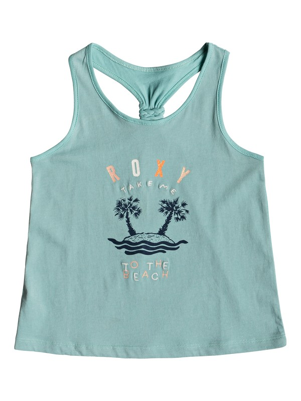 0 Girl's 2-6 Wish You Well B Tank Top Blue ERLZT03196 Roxy