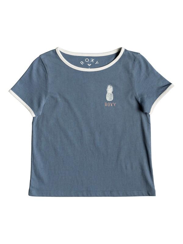 0 Girl's 2-6 Times Up A Tee Blue ERLZT03199 Roxy