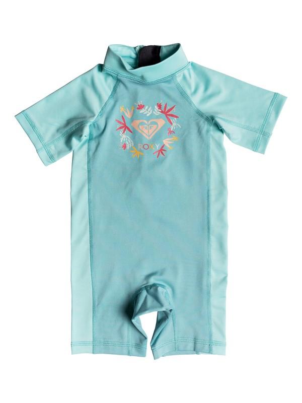 0 Baby Baby ROXY Springsuit Short Sleeve One-Piece UPF 50 Rashguard Blue ERNWR03011 Roxy