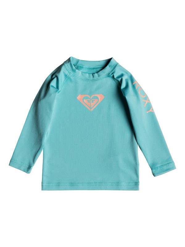 0 Baby Whole Hearted Long Sleeve UPF 50 Rashguard Blue ERNWR03012 Roxy