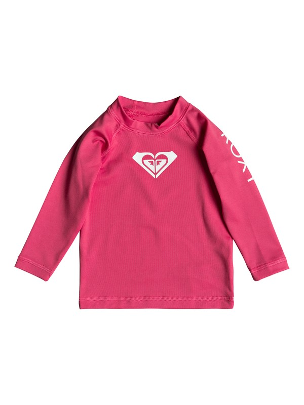 0 Baby Whole Hearted Long Sleeve UPF 50 Rashguard Pink ERNWR03012 Roxy